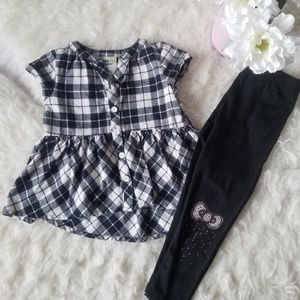 💗NEW💗Hello Kitty Outfit Black and White Plaid